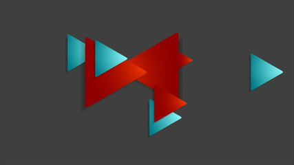 Moving abstract geometric business flyer video animation