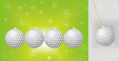 christmas golf greating