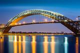 Bayonne Bridge, New Jersey at dusk - 83686113