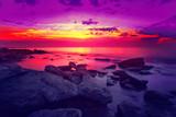 Fototapety Beautiful sunset over sea