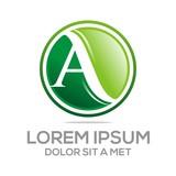 Logo Letter A Icon Concept Business Alphabet