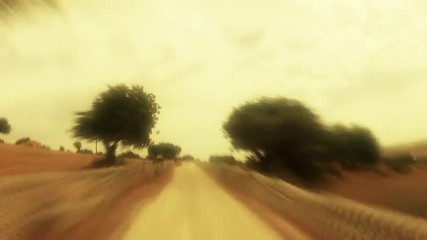 Point of view of car trip through Sicily´s countryside