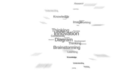 Numerous texts makes bulb light, showing 'IDEA' 2