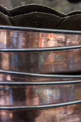 Antique Copper Vases, Pots & Brass Jugs
