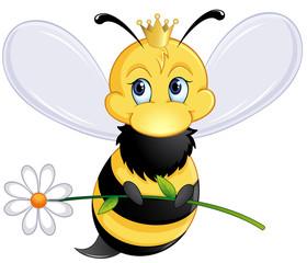 Bienenkönigin mit Zepter