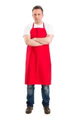 Confident butcher or supermarket worker