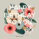 Fototapety modern birthday floral card