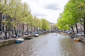 Canal of Amsterdam, the Netherlands