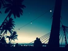 romantik im sonnenuntergang