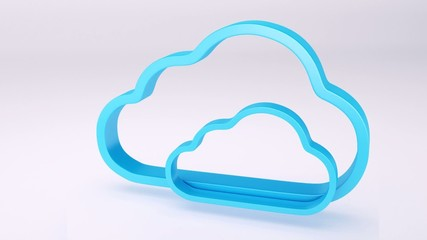 Cloud icon 3d animation
