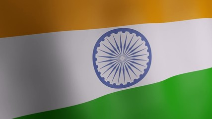 3d animation of India national flag.