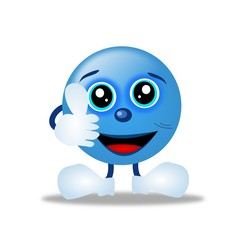 Smile blue