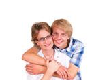 Teenager mit Mutter
