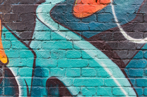 Graffiti wall close up / macro - 83727755