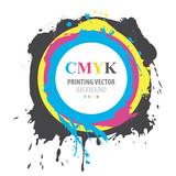 Abstract CMYK paint splash