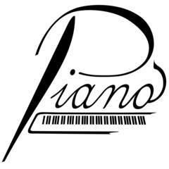 Piano als Logotype