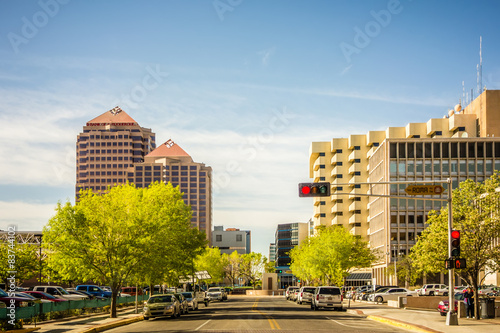 albuquerque new mexico skyline of downtown Poster