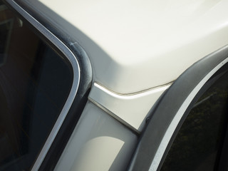The roof of the car