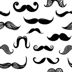 Mustache seamless background