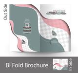 Beauty Care & Salon Bi-Fold Mock up & Brochure Design