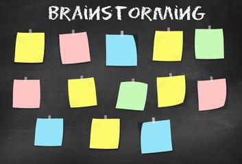 Schultafel Brainstorm, Seminar, Meeting