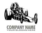 hot rod, stock car logo image vector