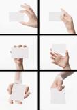 Mani con biglietto da visita