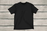 T-Shirt, Black, template.