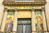 Lyon, Francia, Sala Rameau, las musas Polimnia y Euterpe poster