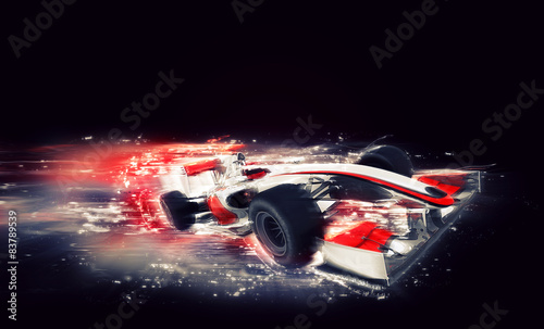 Fototapeta Generic F1 car with special speed effect