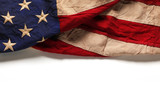 Old American flag background for Memorial Day or 4th of July - Fine Art prints