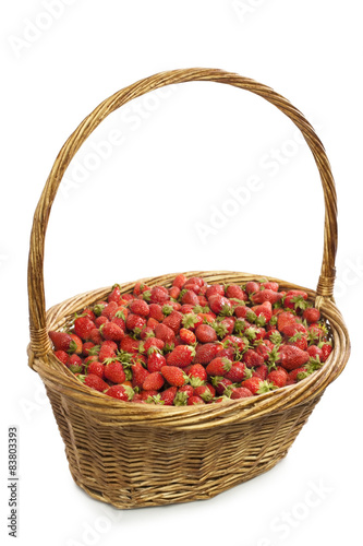 basket of strawberries isolate