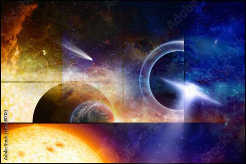 Foto op Canvas Space scientific background