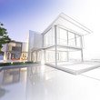 Wireframe mansion