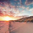 Leinwandbild Motiv Strand und Dünenlandschaft am Sylter Ellenbogen