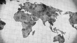 vintage world map loopable panning animation 4k (4096x2304) poster