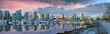 Vancouver BC Skyline at Stanley Park during Sunrise Panorama
