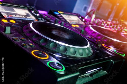 mata magnetyczna DJ odtwarzacz CD i mikser