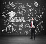 A concept of the MBA degree.  poster
