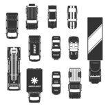Fototapety cars icon top view