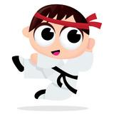 Cartoon Karate Kid