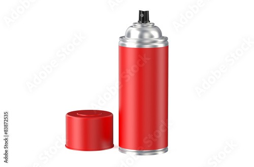 red spray can