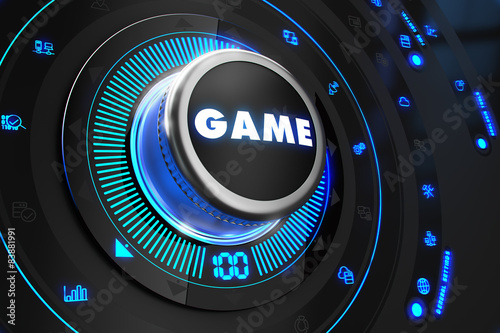 Game Controller on Black Control Console.