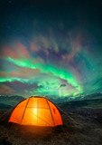 Camping UNder the Northern Lights