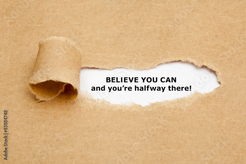 Poster Believe you can and you are halfway there