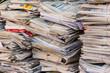 Leinwanddruck Bild - Stapel Altpapier. Alte Zeitungen