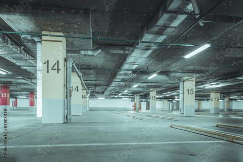 Foto op Canvas Stadion Empty parking garage