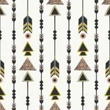 Tribal Style Arrows Seamless Pattern