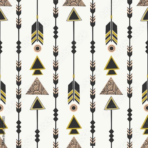 Tribal Style Arrows Seamless Pattern - 83908122