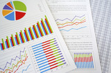 Fototapety Colorful charts and spreadsheet